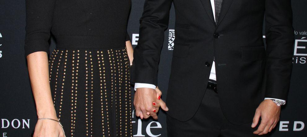 Foto: El jugador David Villa y su mujer, Patricia González, durante la gala Icons of Style en Nueva York (Gtres)
