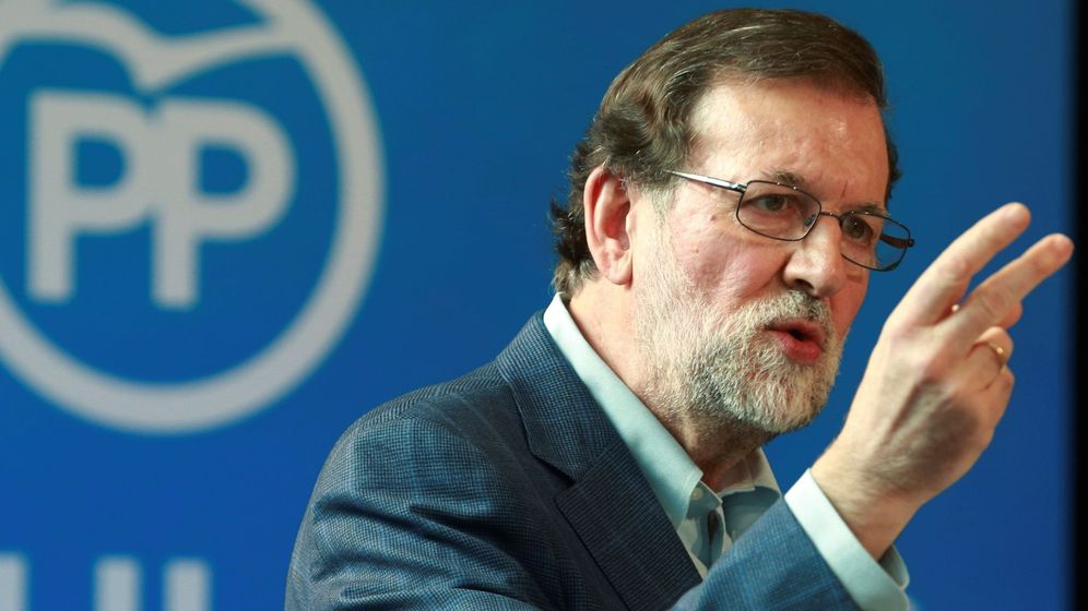 Foto: Mariano Rajoy en un acto en Zaragoza. (EFE)