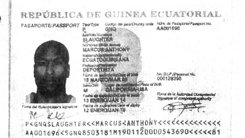 Ve la luz el supuesto pasaporte falso que habría utilizado Marcus Slaughter