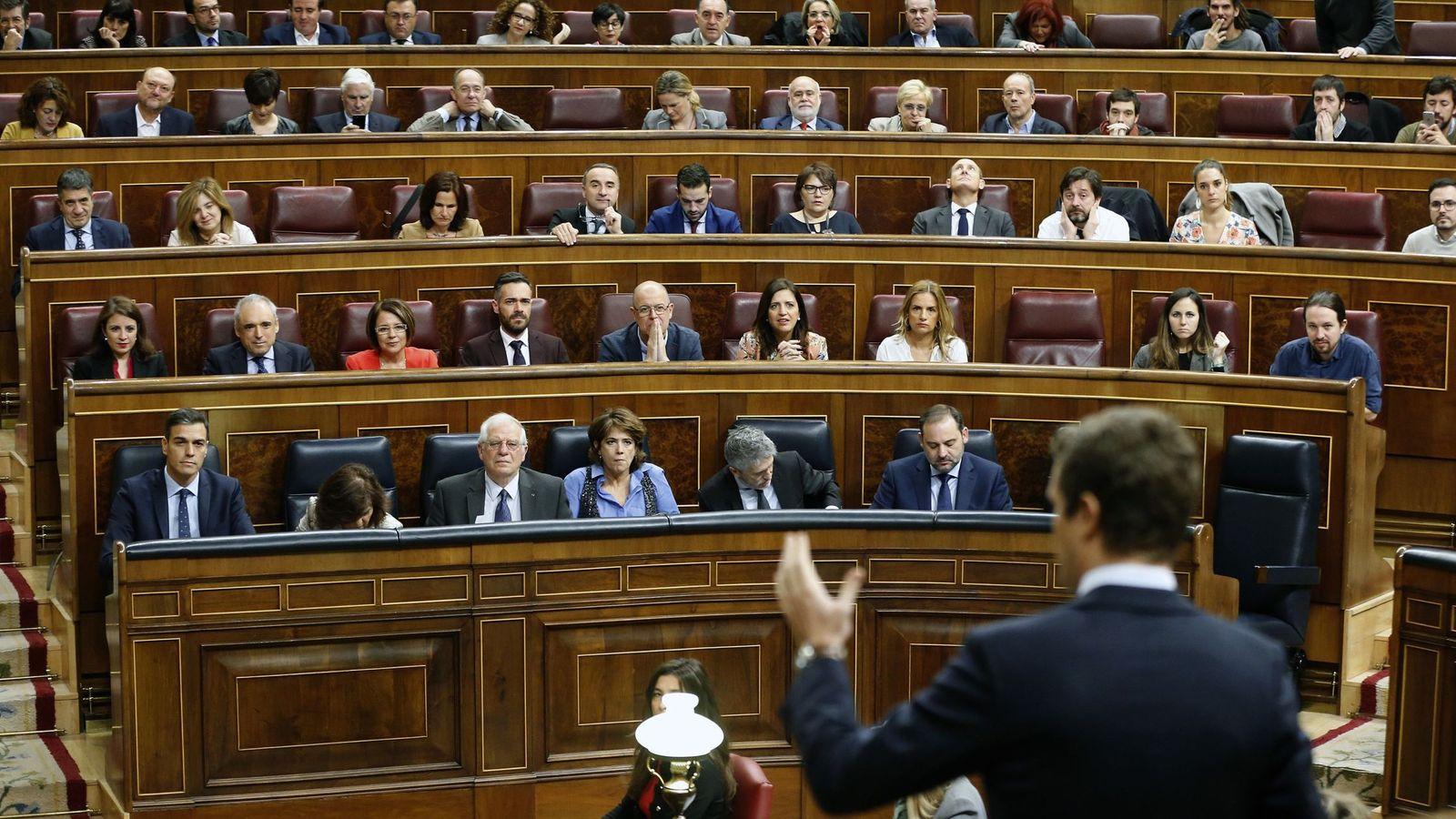 Foto: Sesión de control al Gobierno del Congreso de los Diputados. (EFE)