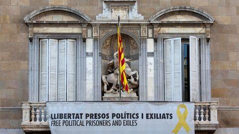 Torra retira la pancarta de la fachada de la Generalitat tras apoyar la desobediencia ayer