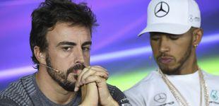 Post de Fernando Alonso, serio en Australia: