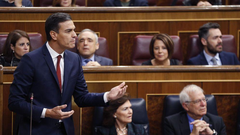 Foto: Pedro Sánchez, en el Congreso de los Diputados. (EFE)