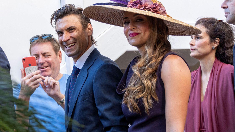 El tenista David Ferrer y Marta Tornel (EFE)