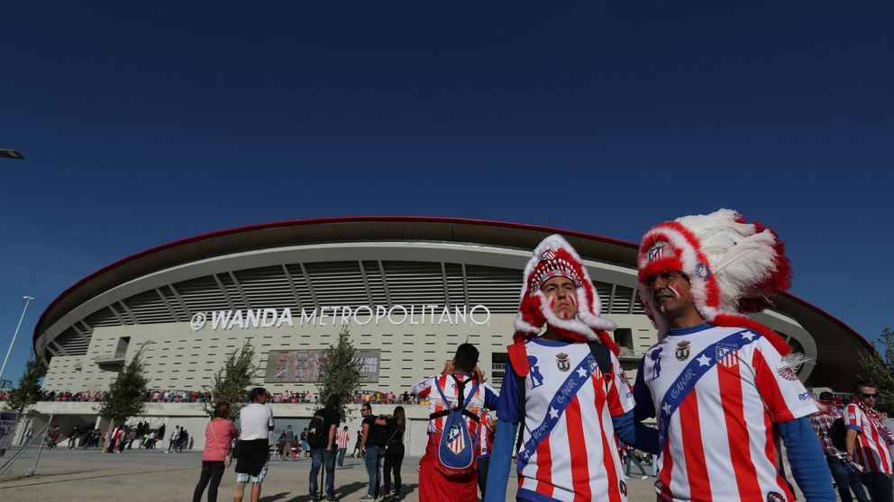 La afición del Atlético conoce al Wanda
