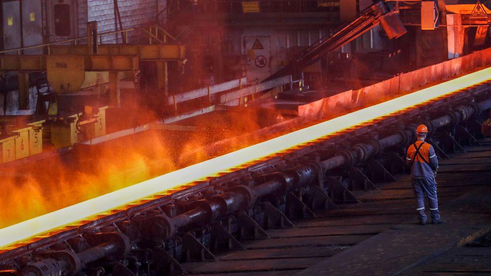 Foto: Fábrica de producción de acero de Arcelor. (Reuters)