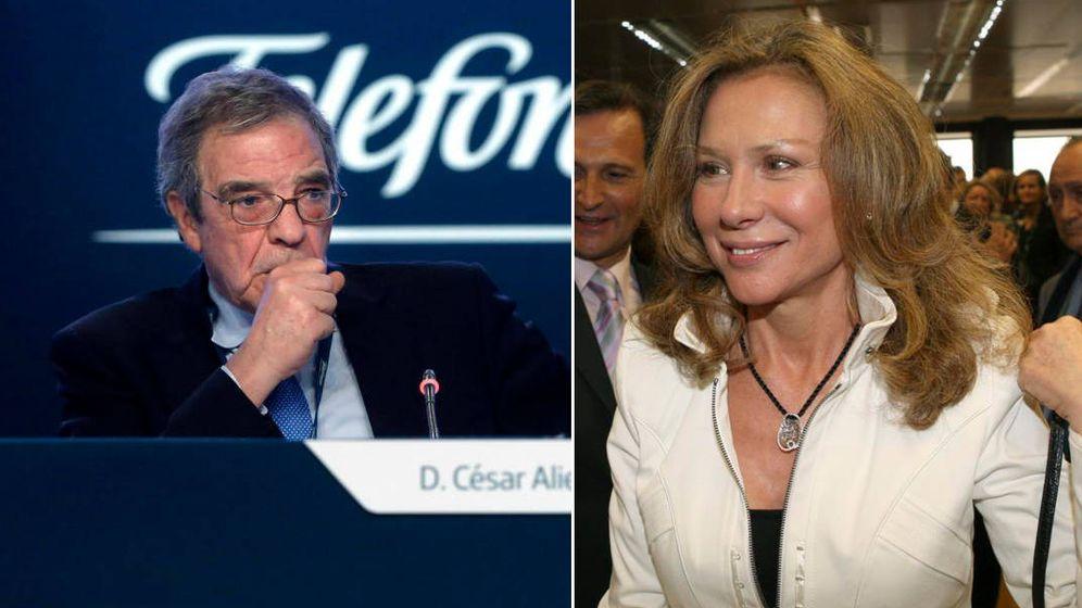 Foto: A la izquierda, César Alierta. A la derecha, Alicia Koplowitz.