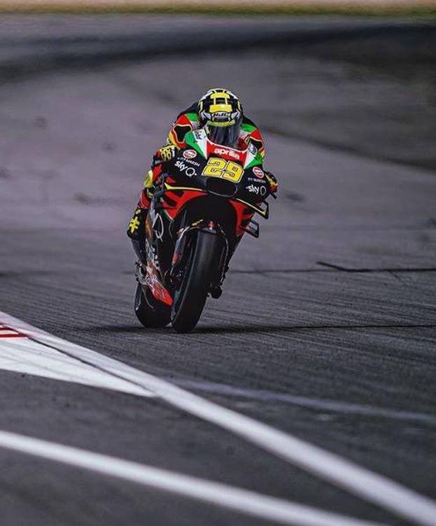 Foto: Andrea Ianonne, con la Aprilia esta pasada temporada de MotoGP. (EFE)