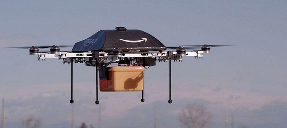 'Drones' para entregar pedidos en media hora, la apuesta de Jeff Bezos para Amazon