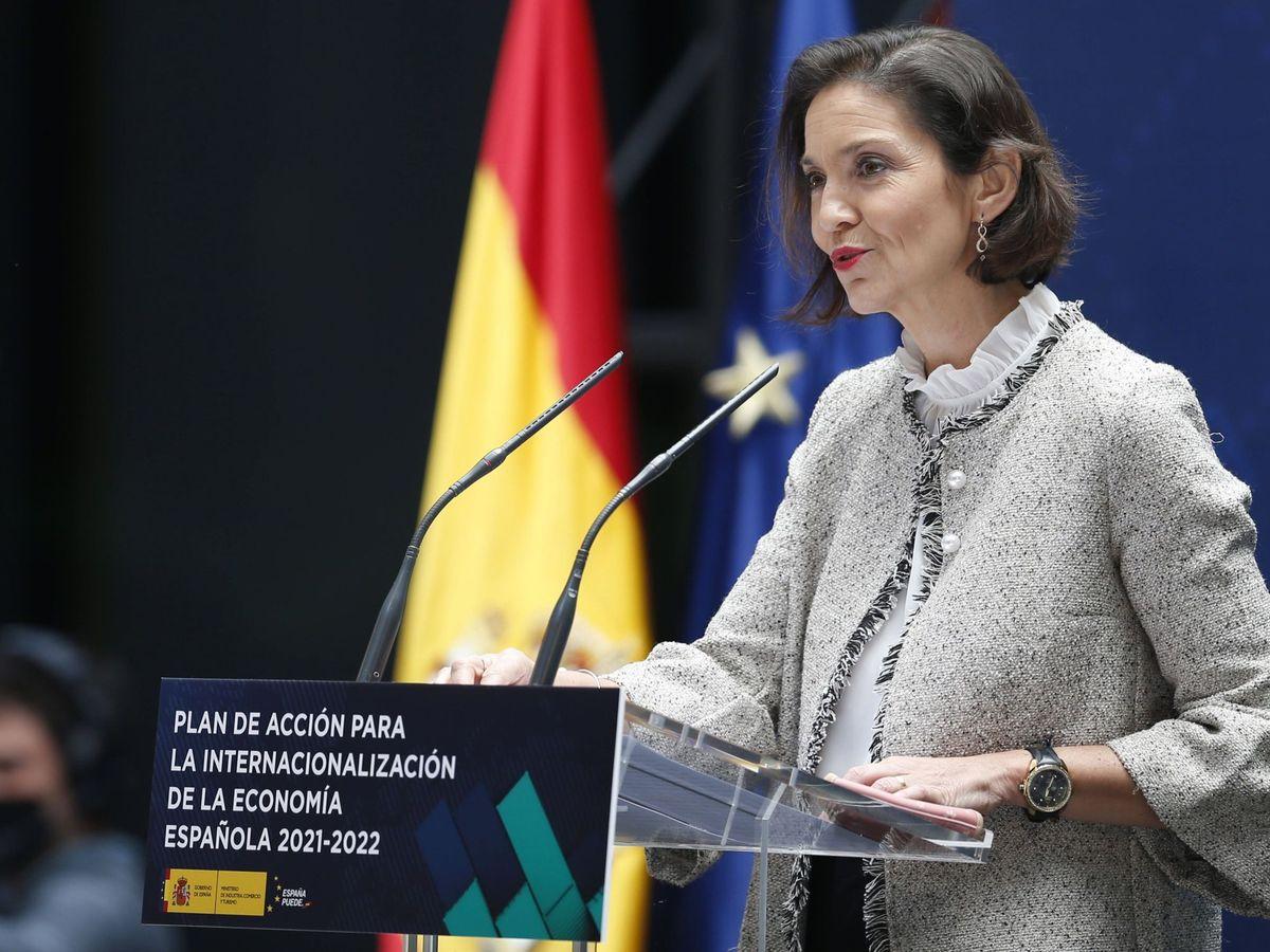 Foto: La ministra de Industria, Comercio y Turismo, Reyes Maroto.