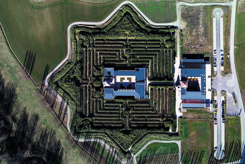 Foto: Vista aérea del Labirinto della Massone. (Giovanni Gastel)