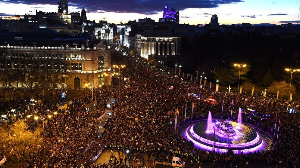 Foto: Manifestación en madrid con motivo del día internacional de la mujer