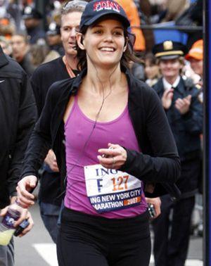 Katie Holmes corrió el maratón de Nueva York