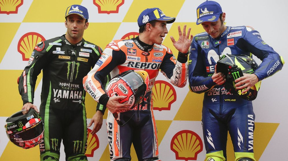 Foto: Los pilotos Marc Márquez y Valentino Rossi. (EFE)