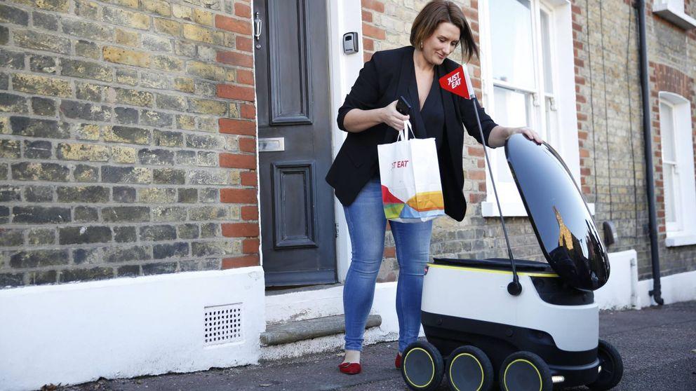 Los robots repartidores llegan a las calles de Londres. No paran de quitarme pedidos