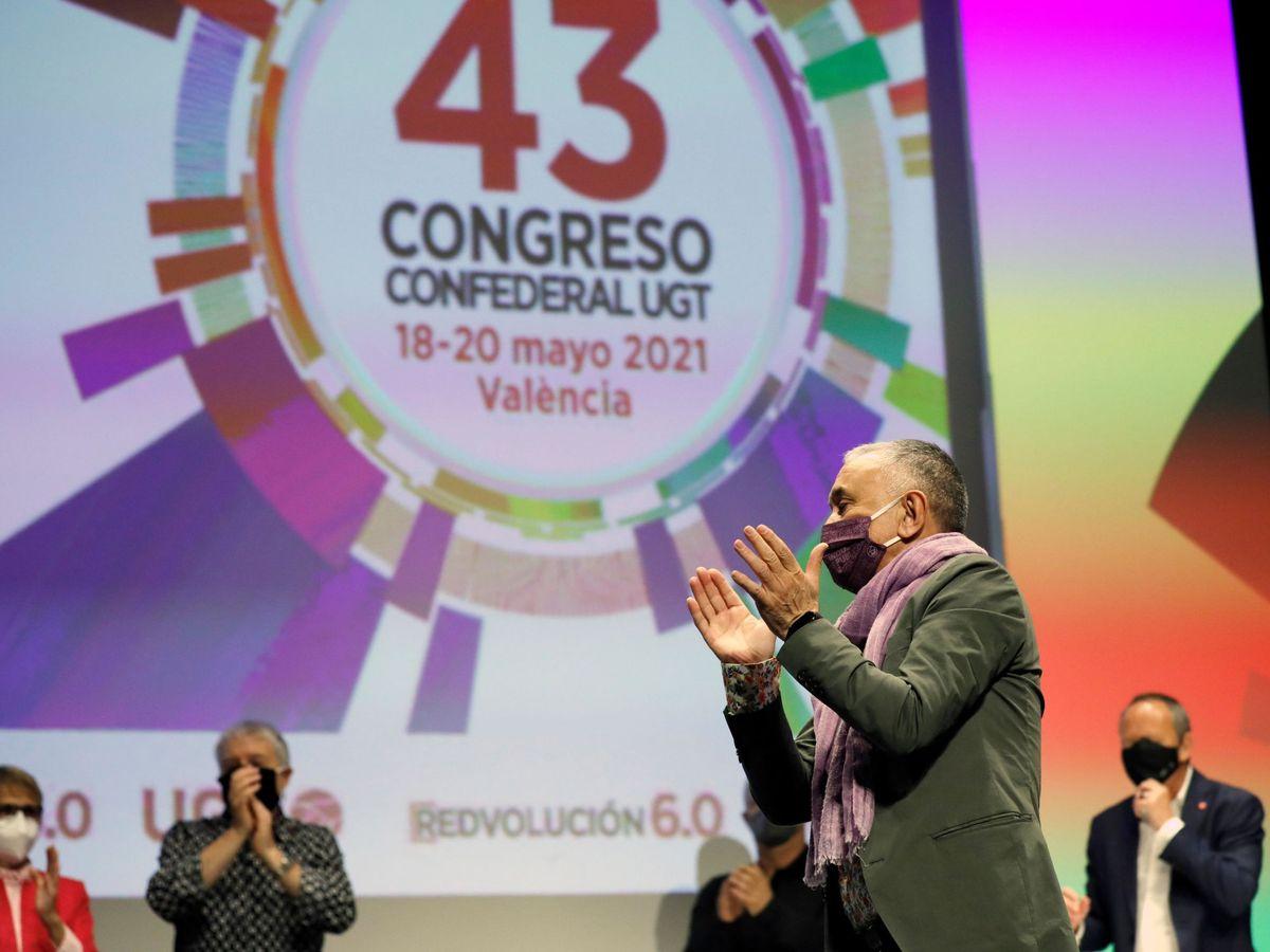 Foto: Pepe Álvarez fue reelegido secretario general de UGT en el congreso confederal de Valencia. (EFE)