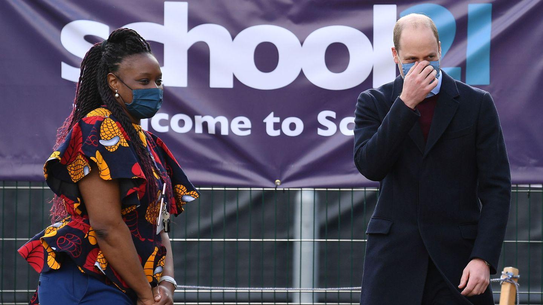 El duque de Cambridge, este jueves en una escuela de Londres. (Reuters)