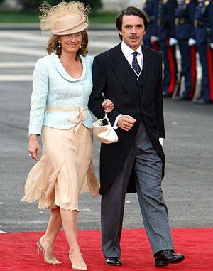 José María Aznar y Ana Botella casan a su hijo mayor