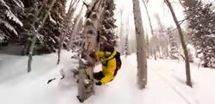 Post de Un snowboarder graba cómo se parte la pierna tras un accidente fuera de pista
