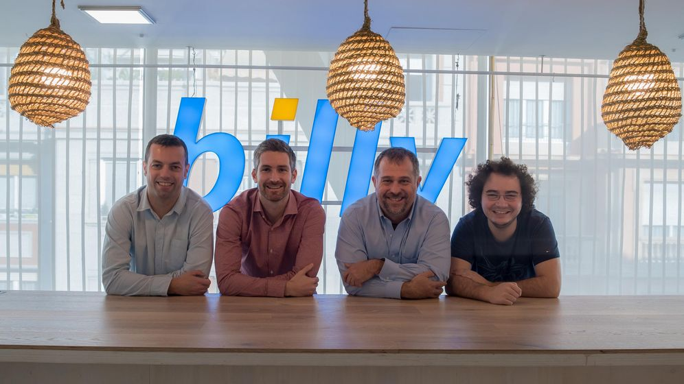 Foto: Los cuatro socios fundadores de Billy, de izquierda a derecha: Jordi Cid, David Martínez, Vicens Martí y Jordi Tamargo. Martínez y Tamargo fueron exlíderes de SeriesYonkis