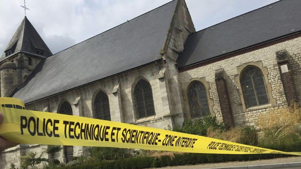Foto: El ataque yihadista en una iglesia de la región francesa de Normandía, en imágenes