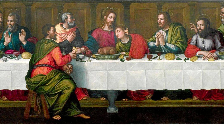 'La última cena', Nautilla Nelly, 1560. Santa María Novella.