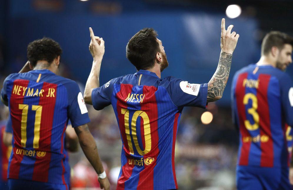 Foto: Messi volvió a ser el indiscutible líder del Barcelona. (EFE)