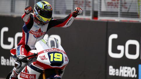 Simeon se lleva la victoria en Moto2 y  Rabat se va al suelo en la última curva