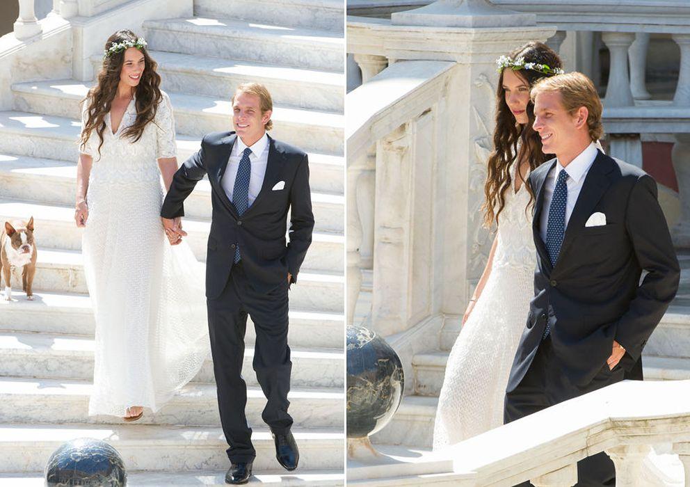 Foto: Imagen del enlace distribuida por la Casa Real monegasca a los medios