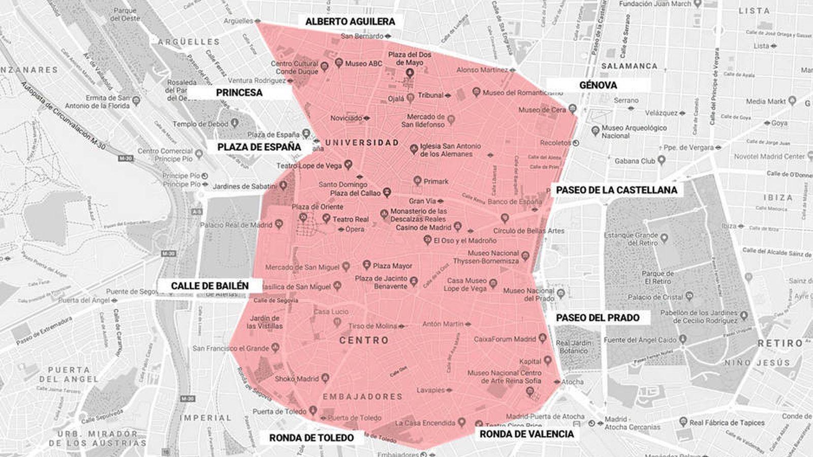 Mapa De Madrid Centro.Asi Es El Mapa De Madrid Central Consulta Por Que Calles Se