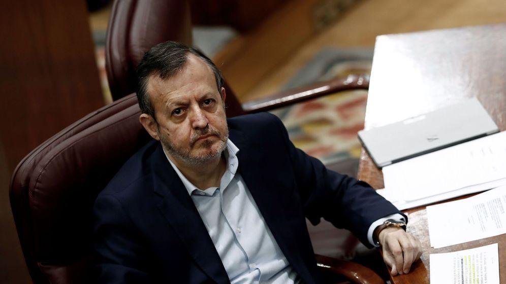 Foto: Alberto Reyero, en el pleno de la Asamblea de Madrid.