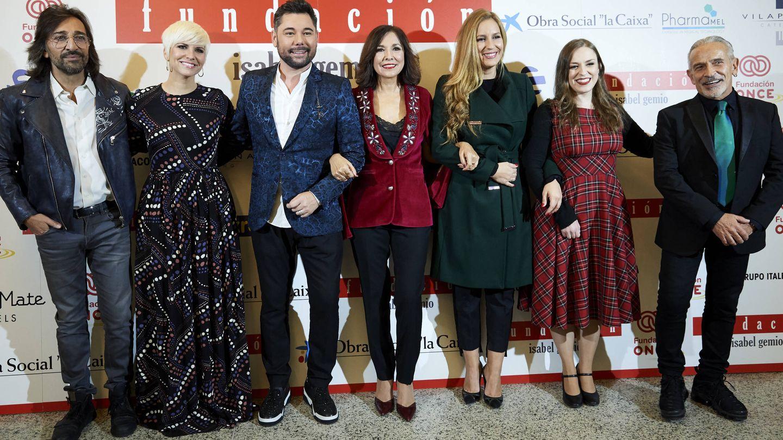 Antonio Carmona, Pasión Vega, Miguel Poveda, Isabel Gemio, María y Cristina Toledo, y Víctor Ullate. (Getty)