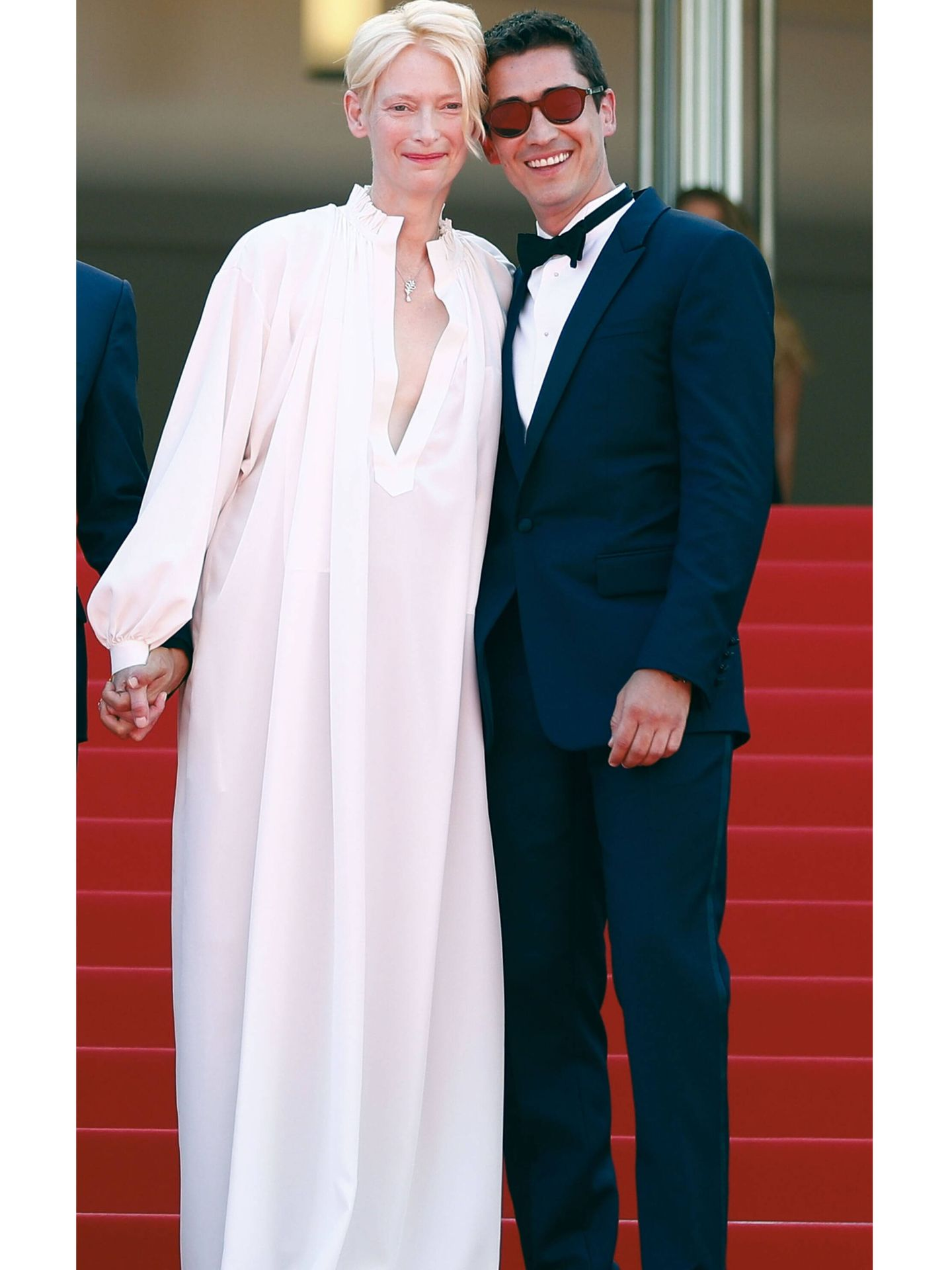Tilda Swinton y Juan Pablo Urrego. (Reuters)