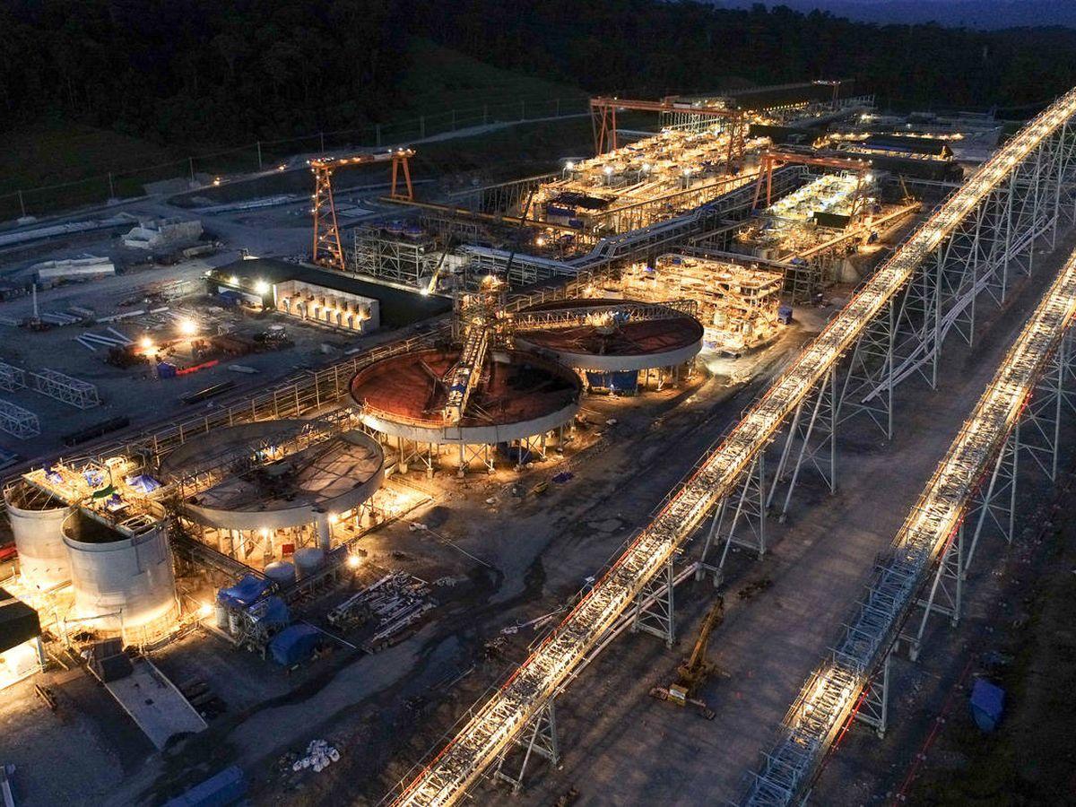 Foto: Planta minera de la explotación. (Cobre Panamá)