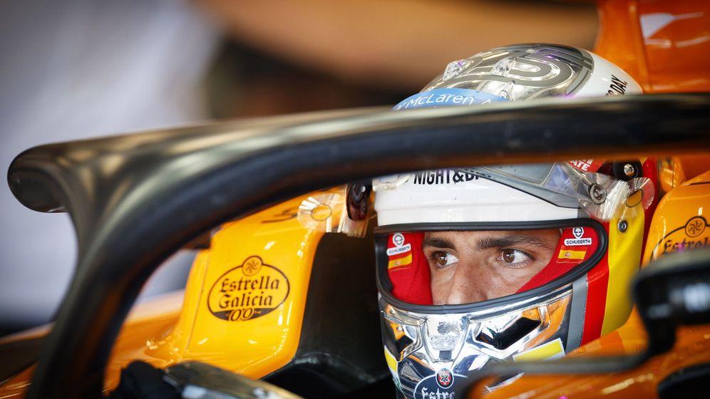 Foto: Carlos Sainz instantes antes de la carrera de Bélgica. (EFE)