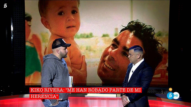Kiko Rivera y Jorge Javier Vázquez, en 'Cantora: la herencia envenenada'. (Mediaset España)