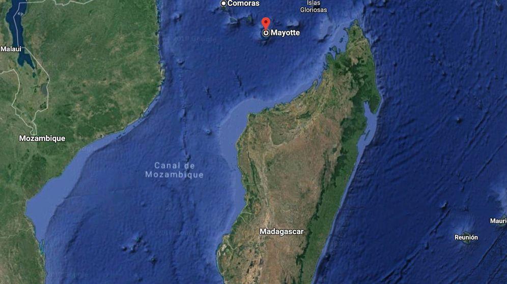 Foto: Mayotte, entre África y Madagascar, desde donde habrían partido las misteriosas ondas (Google Maps)