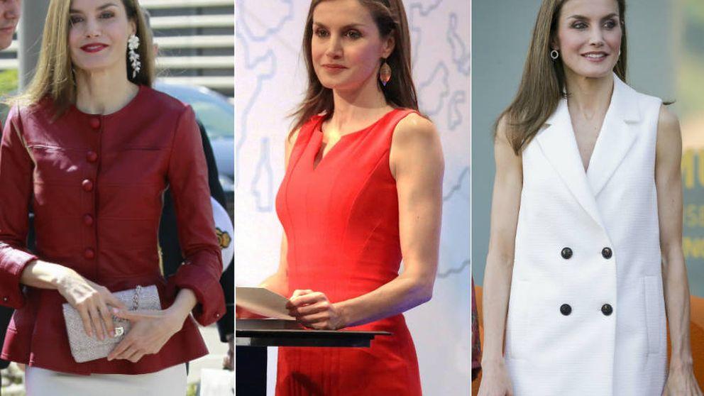 Tres días, tres estrenos: los looks de la Reina Letizia esta semana