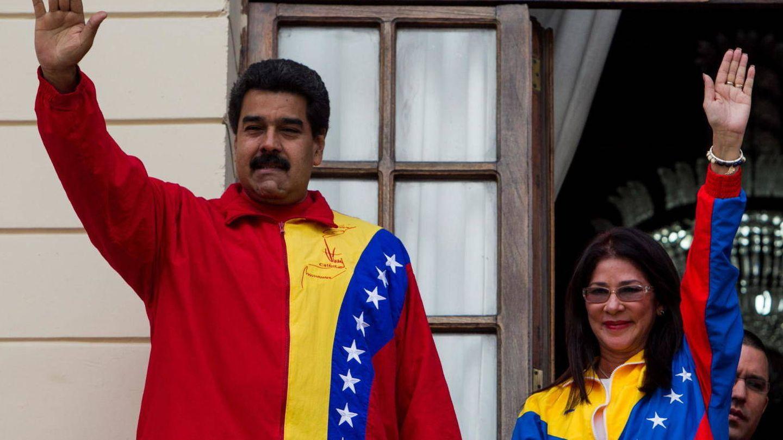 Nicolás Maduro y Cilia Flores. (EFE)