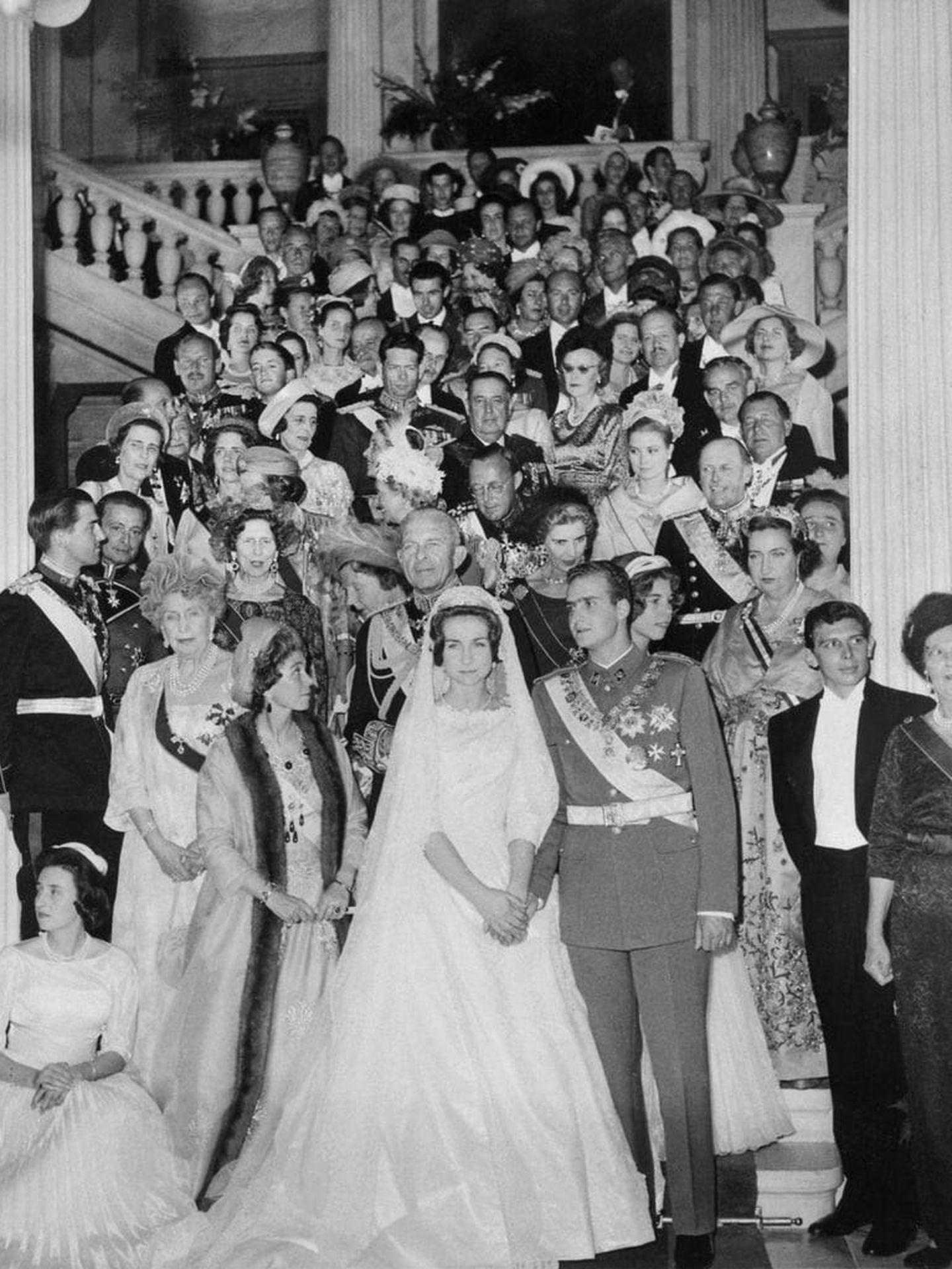 Juan Carlos y Sofía, el día de su boda en 1962. (Archivo Vanitatis)