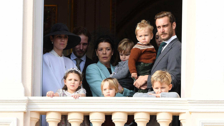 Carolina, con parte de su familia. (Reuters)