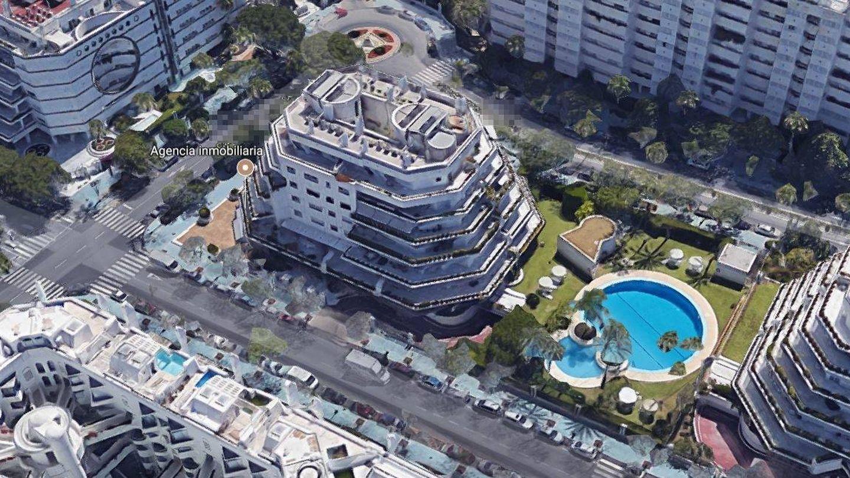 Vista aérea de la urbanización en Marbella. (Vanitatis)