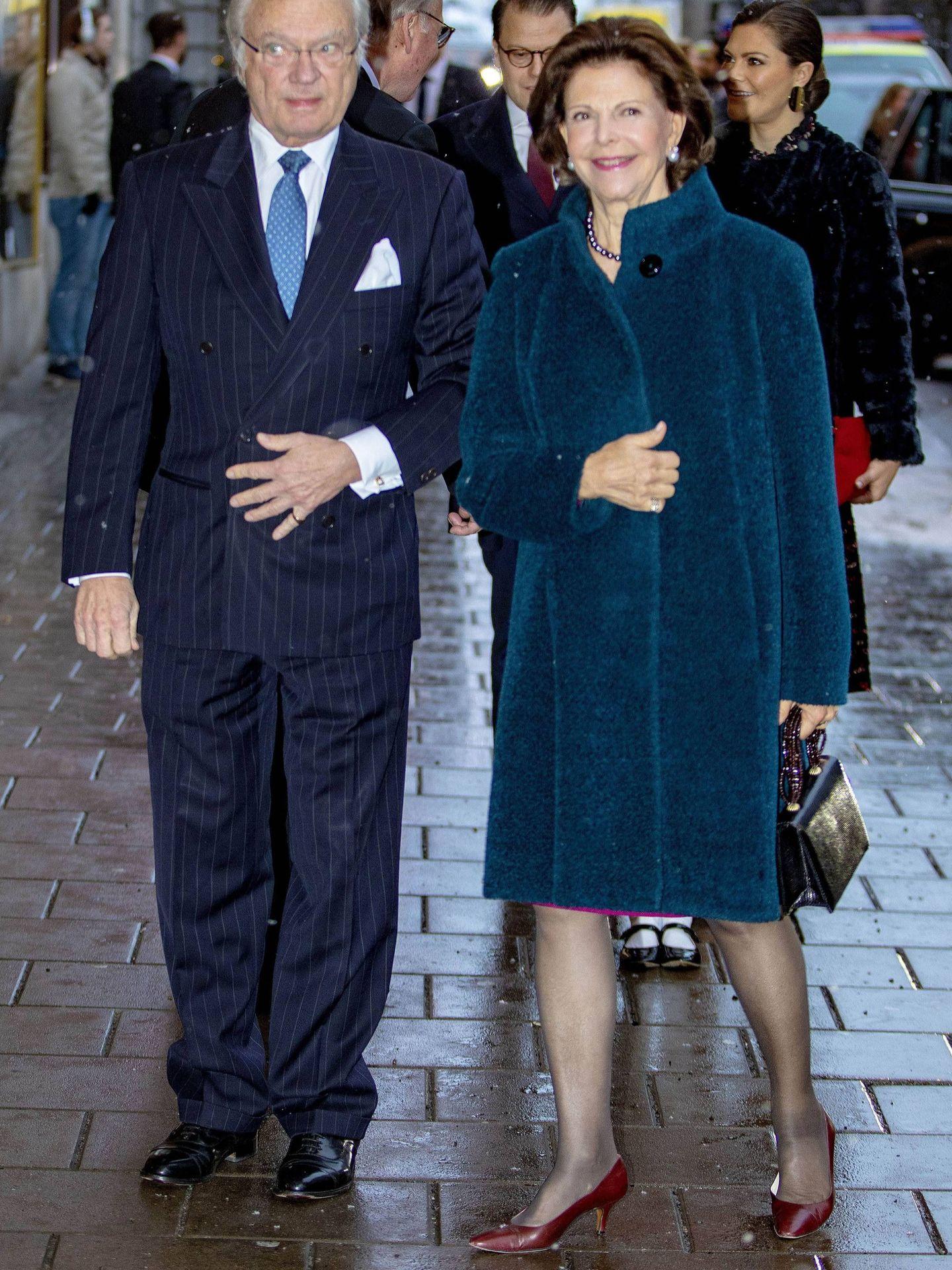 Los reyes de Suecia, en el cumpleaños de la reina Silvia el año pasado. (Cordon Press)