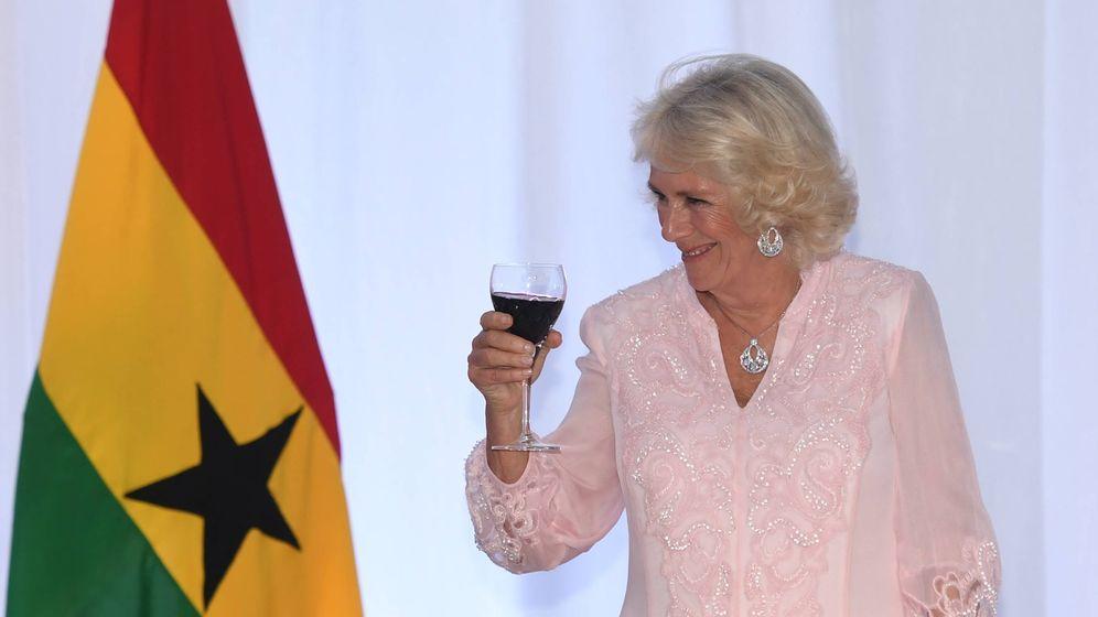 Foto: Camilla en Ghana. (Getty)