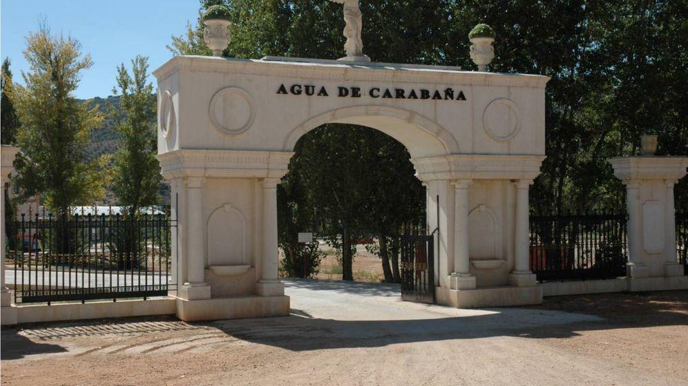 Foto: Entrada al complejo Aguas de Carabaña.
