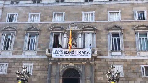Directo de Cataluña   Torra cuelga otra pancarta: Libertad de opinión y expresión