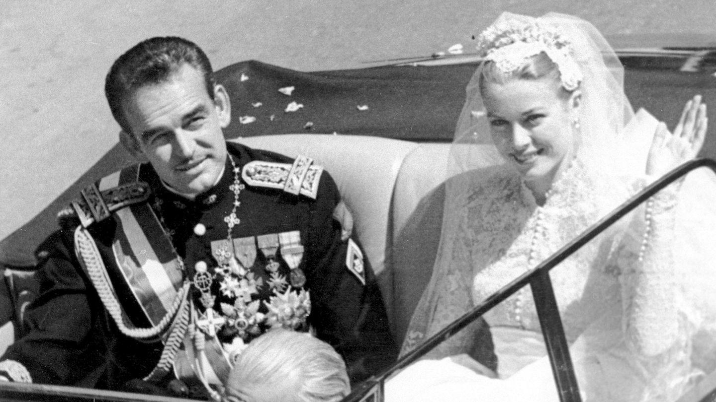 Grace y Rainiero, el día de su boda (Gtres)
