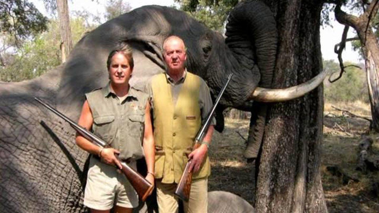El rey Juan Carlos, durante una cacería en Botsuana.