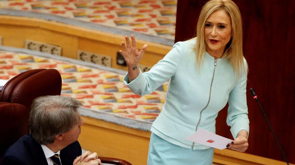 Foto: Cifuentes, en el pleno de la Asamblea de Madrid el pasado 19 de abril. (EFE)