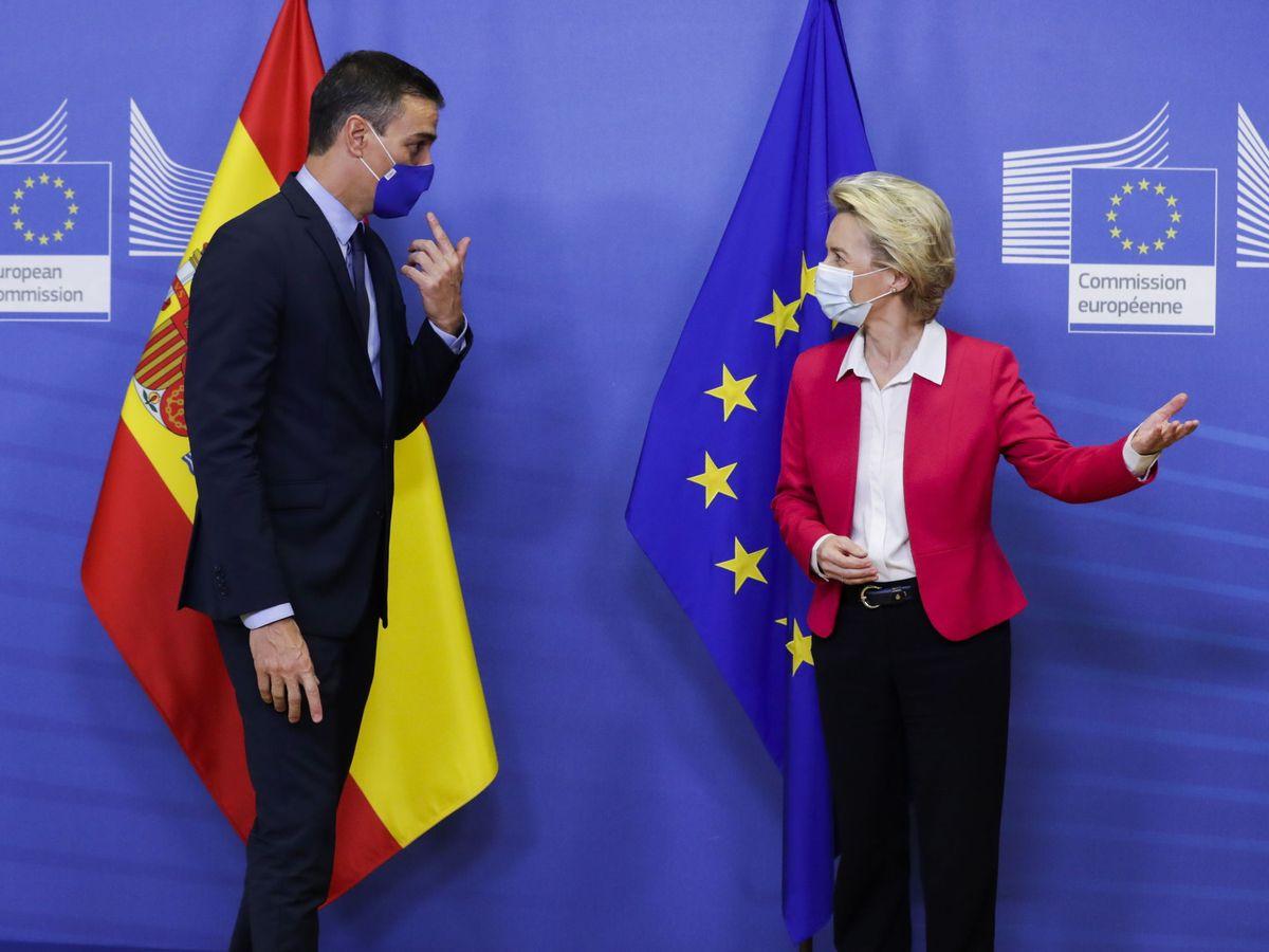 Foto: Pedro Sánchez y Ursula von der Leyen. (EFE)